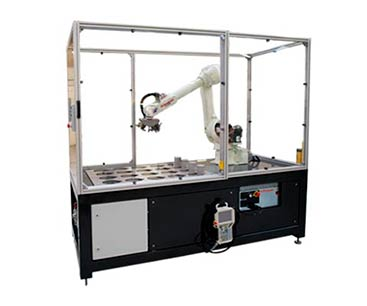 CNC machine operation with robotic